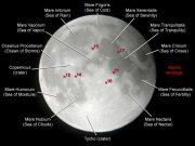 Moon Map - Features (note the face of Men in the Moon, 2 eyes, nose ___
