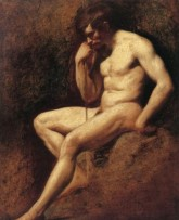 Etty_William_Male_Nude_Seated_Holding_Staff_large